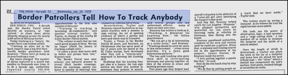 """""""Border Patrollers tell how to track anybody""""[1978]"""
